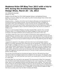 Modenus Kicks Off Blog Tour 2012 with a trip to NYC ... - Press Room