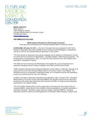 OSAE selects Cleveland for 2012 Annual Convention - Press