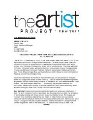 FOR IMMEDIATE RELEASE MEDIA CONTACT - Press - The ...