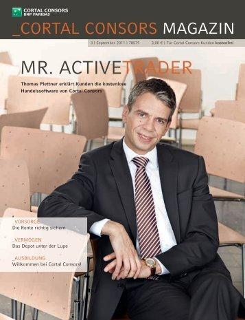 Cortalconsors Magazin (Trader) | Ausgabe 3/2011 - WDV ...