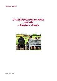 Grundsicherung im Alter und die »riester«-Rente - Sozialpolitik für ...