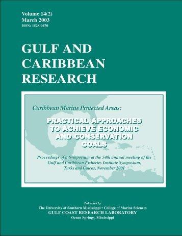 GCRVol14_2 GCFI Cover Pale Gr.pmd - Gulf and Caribbean ...