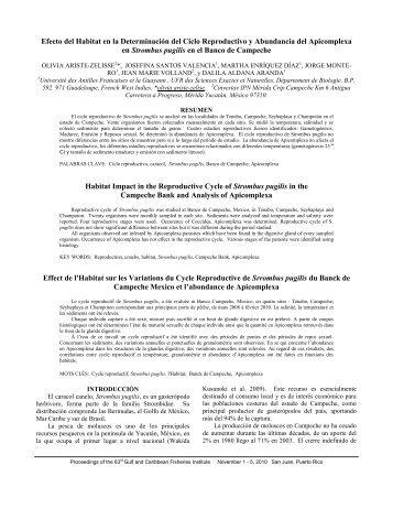 Efecto del Habitat en la Determinación del Ciclo Reproductivo y ...