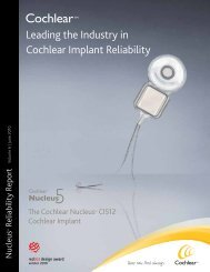 Leading the Industry in Cochlear Implant Reliability