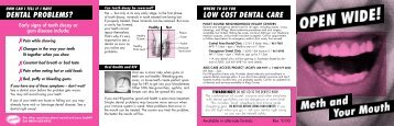 LOW COST DENTAL CARE D E N TAL PROBLEMS? - Project Neon