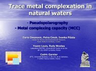 Trace metal complexation in natural waters - laboratoire PROTEE