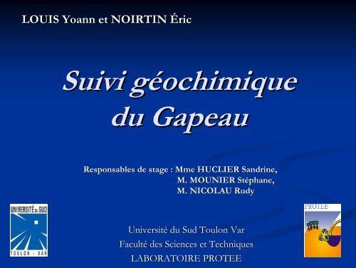 Oral - laboratoire PROTEE - Université du Sud - Toulon - Var