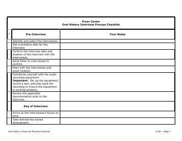 A Stakeholder Interview Checklist