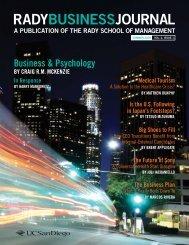 Business & Psychology - Establishing New Traditions - UC San Diego