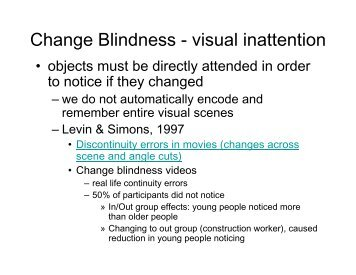 change blindness The door study daniel simons loading the study was among the first to demonstrate that the phenomenon of change blindness can occur outside the.