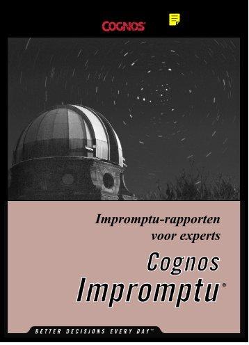 Impromptu-rapporten voor experts