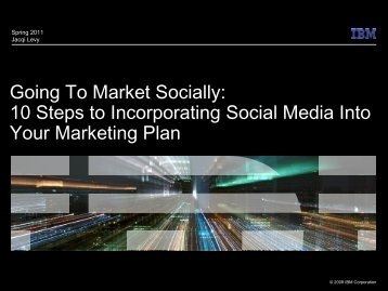 10 steps to incorporate social media into your marketing plan