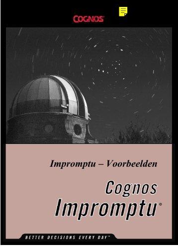 Impromptu -Voorbeelden
