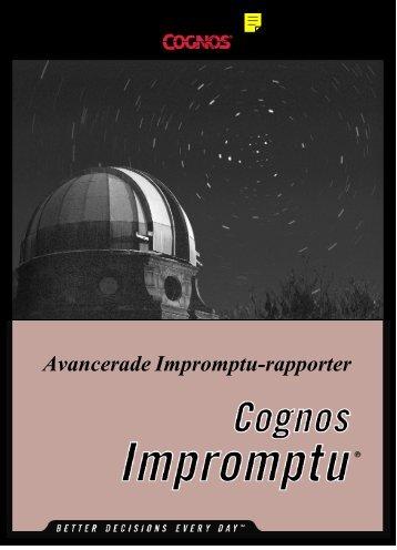 Avancerade Impromptu-rapporter