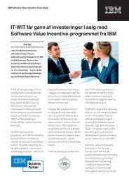 IT-WIT får gavn af investeringer i salg med Software Value Incentive ...
