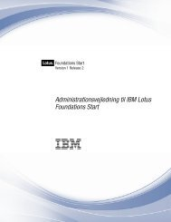 Lotus Foundations Start 1.2: Administrationsvejledning til IBM Lotus ...