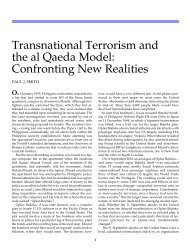 Transnational Terrorism and the al Qaeda Model - Gettysburg College