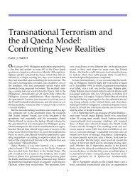 Transnational Terrorism and the al Qaeda Model - Gettysburg College