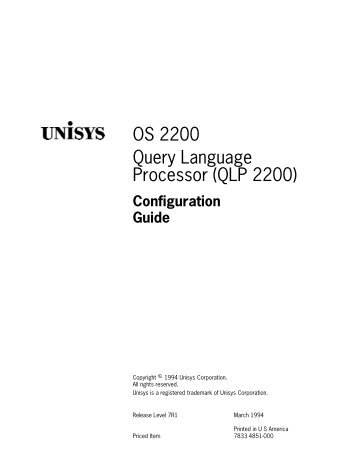 unisys manual