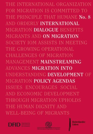 International Dialogue on Migration N°8 – Mainstreaming Migration ...