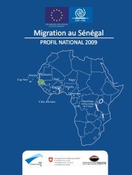 Migration au Sénégal: Profil National 2009 - IOM Publications