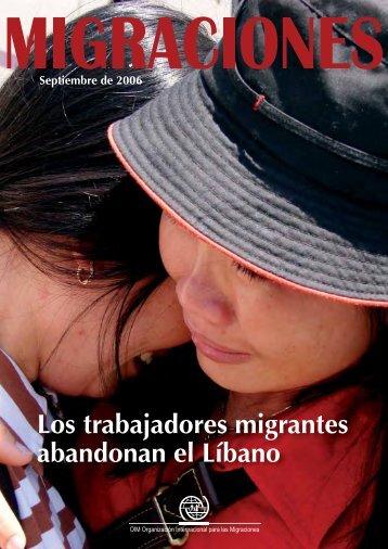 Los trabajadores migrantes abandonan el Líbano - IOM Publications
