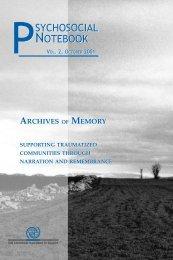 Psychosocial Notebook - IOM Publications - International ...