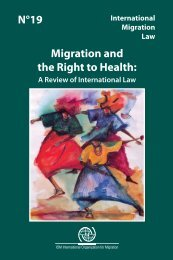 Migration and the Right to Health - IOM Publications - International ...
