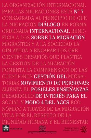la organización internacional para las ... - IOM Publications