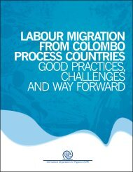 Labour Migration from Colombo Process Countries: Good Practices
