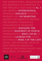 Managing the Movement of People - IOM Publications - International ...