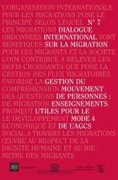 sur la migration - IOM Publications