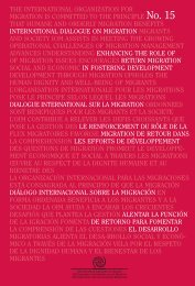 Informe del Taller - IOM Publications - International Organization for ...