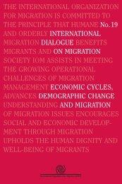 Economic Cycles, Demographic Change and Migration - IOM ...