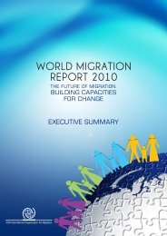 WORLD MIGRATION REPORT 2010 - IOM Publications