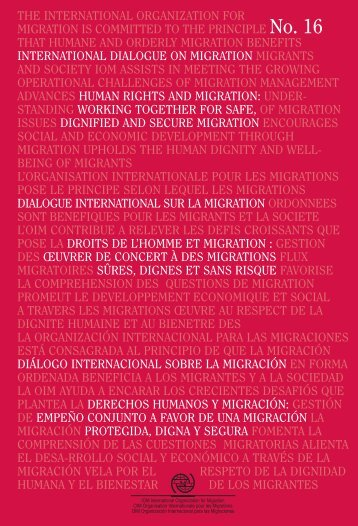 the International Organization for Migration. - IOM Publications ...