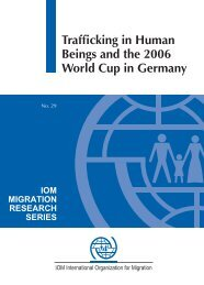 Trafficking in human beings and the 2006 World Cup in Germany