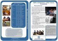 IOM in Emergency and Post Crisis Scenarios - IOM Publications ...