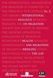 Health and Migration - IOM Publications - International Organization ...