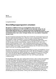 Beschäftigungsprogramm umsetzen - Arbeitskammer des Saarlandes