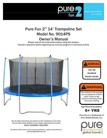 Round Skyhigh Trampoline Enclosure Combo Assembly Instructions