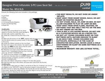 CUSTOMER SERVICE: 866-498-5269 - pure global brands, inc.