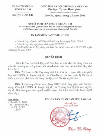 Sb: 396 I QD. UB Doc Igp - Tv do - Hanh phuc QUYET DINH