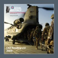CAS Reading List 2009 - Royal Air Force Centre for Air Power Studies
