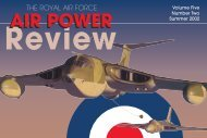 Air Power Review Volume 5 Number 2 - Royal Air Force Centre for ...
