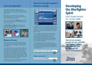 Developing the Warfighter Spirit - Royal Air Force