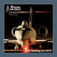 CAS' Reading List 2010 - Royal Air Force Centre for Air Power Studies