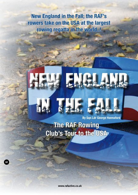 The RAF Rowing Club's Tour to the USA - Royal Air Force