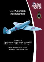 Gate Guardian Rededication - Royal Air Force