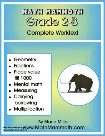 Math Mammoth Grade 1-A Complete Worktext Samples - Rainbow ...